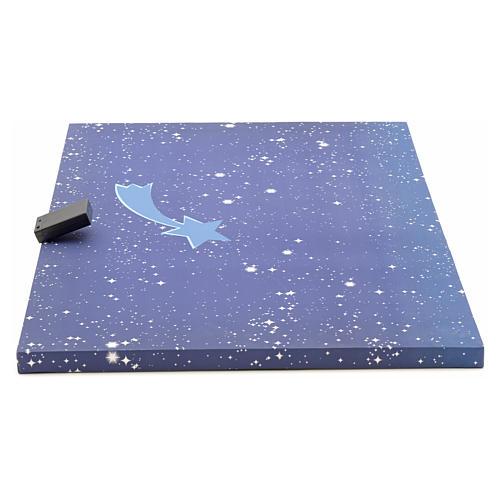 Cielo luminoso pesebre con estrellas y cometa 50x70 2