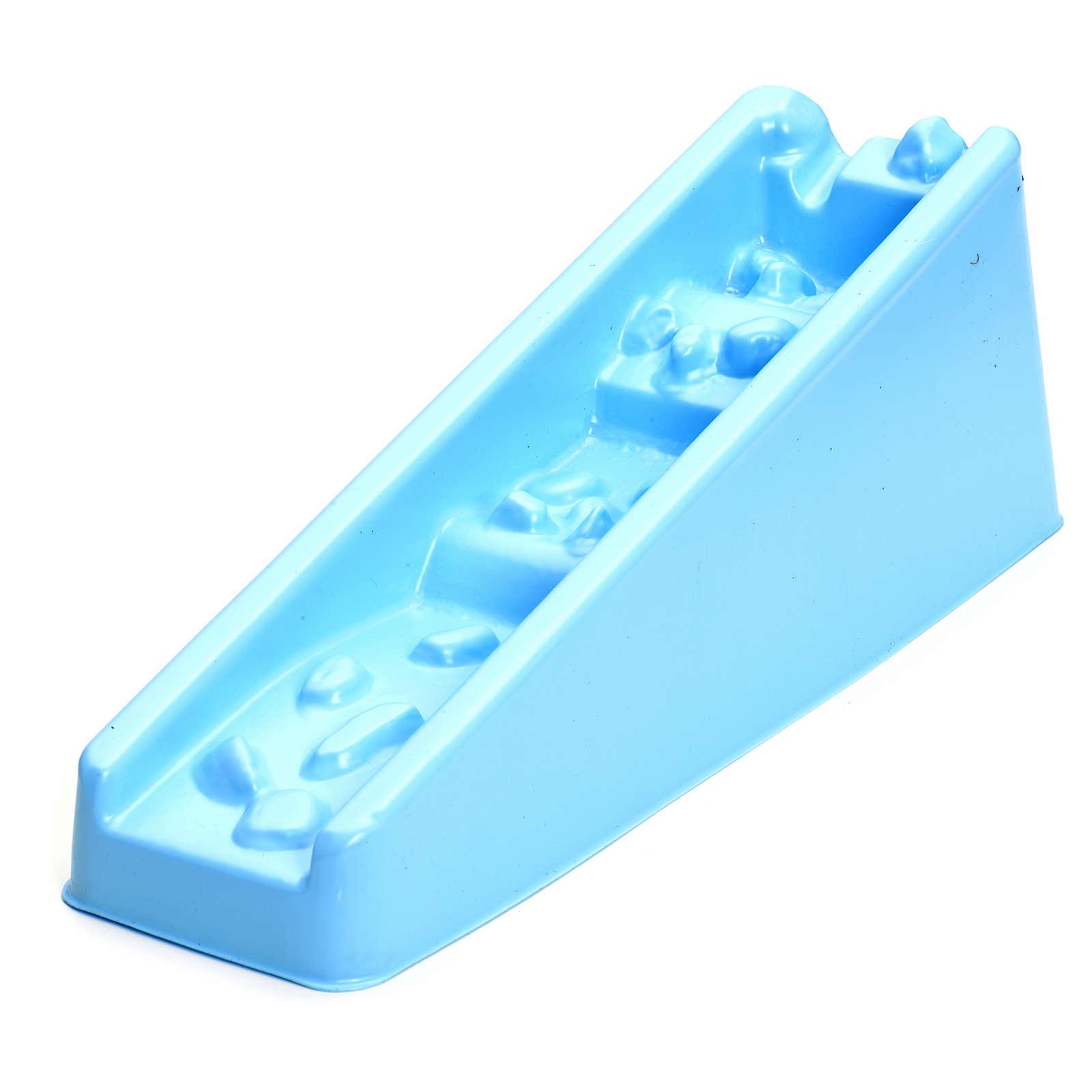 Cascada azul con peldaños para pesebre 4
