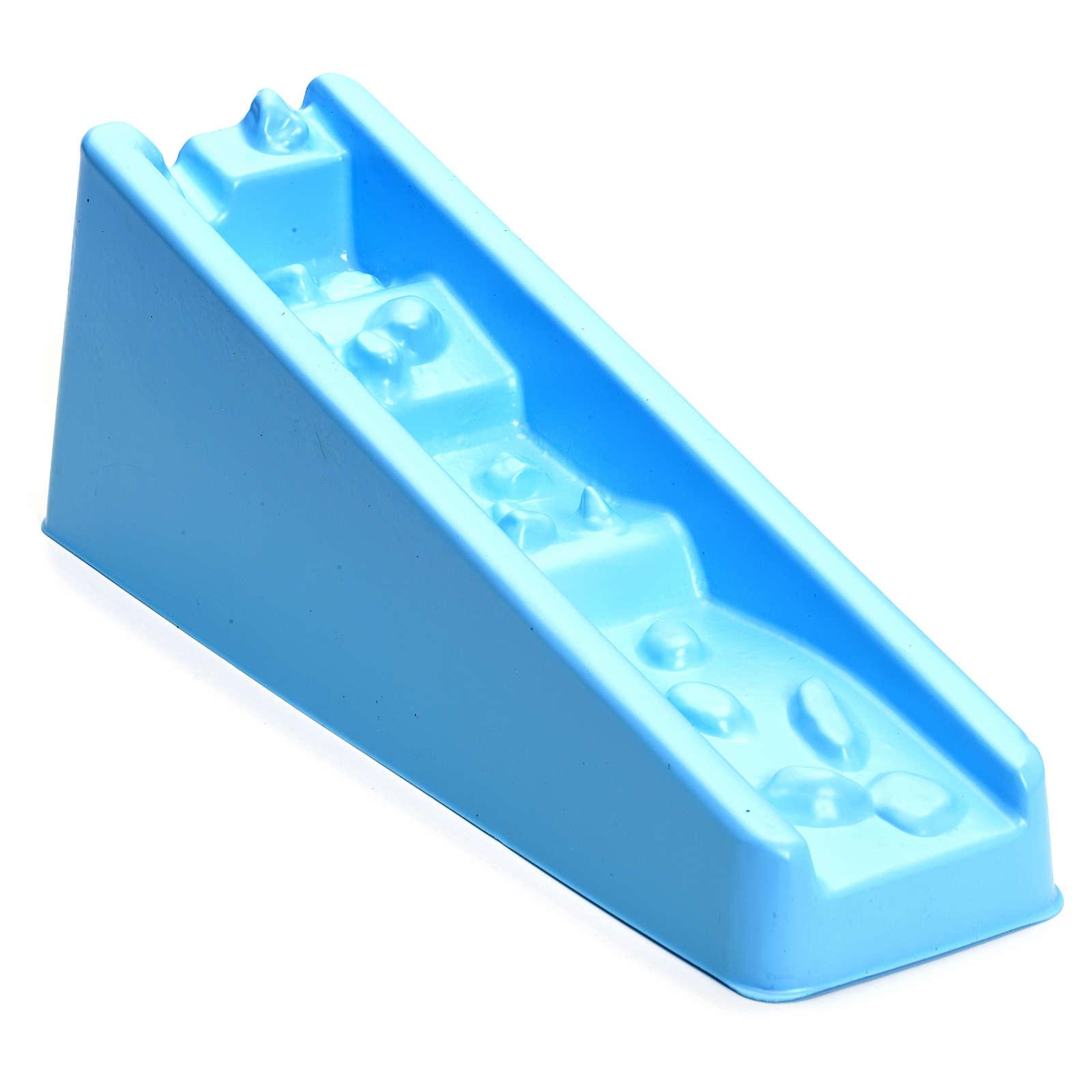Cascata azul degraus para presépio 4