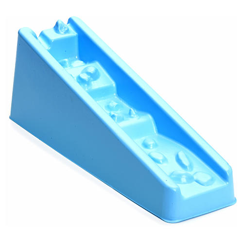 Cascata azul degraus para presépio 2