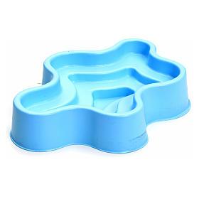 Bomba de agua y motores para movimientos: Lago azul en plástico pesebre