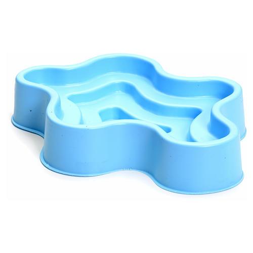 Lago azul en plástico pesebre 2