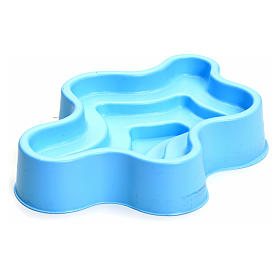 Laghetto blu in plastica presepe s1