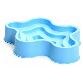 Laghetto blu in plastica presepe s2
