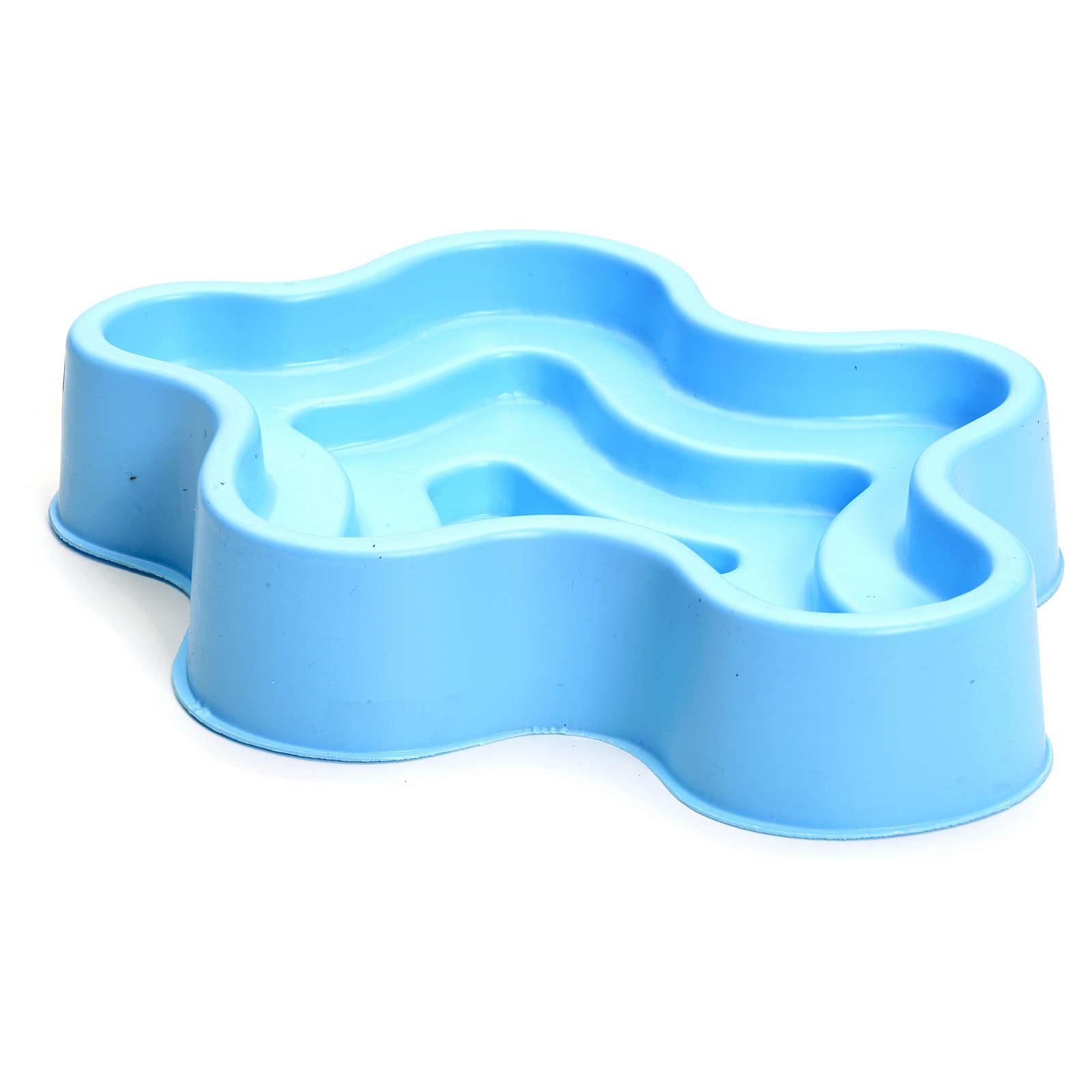 Lago azul em plástico presépio 4
