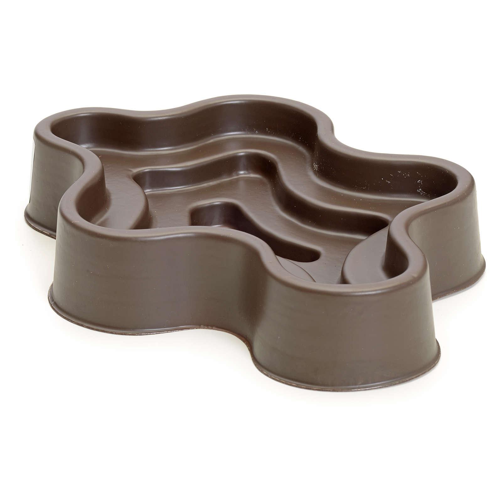 Mini lac marron en plastique pour crèche 4