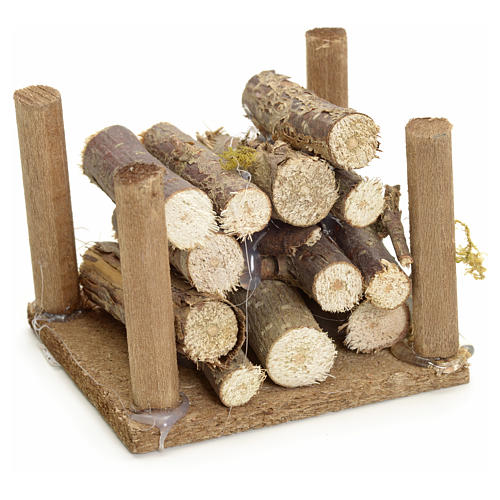 Nativity accessory, wood heap for do-it-yourself nativities 1