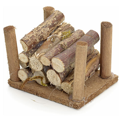 Nativity accessory, wood heap for do-it-yourself nativities 2