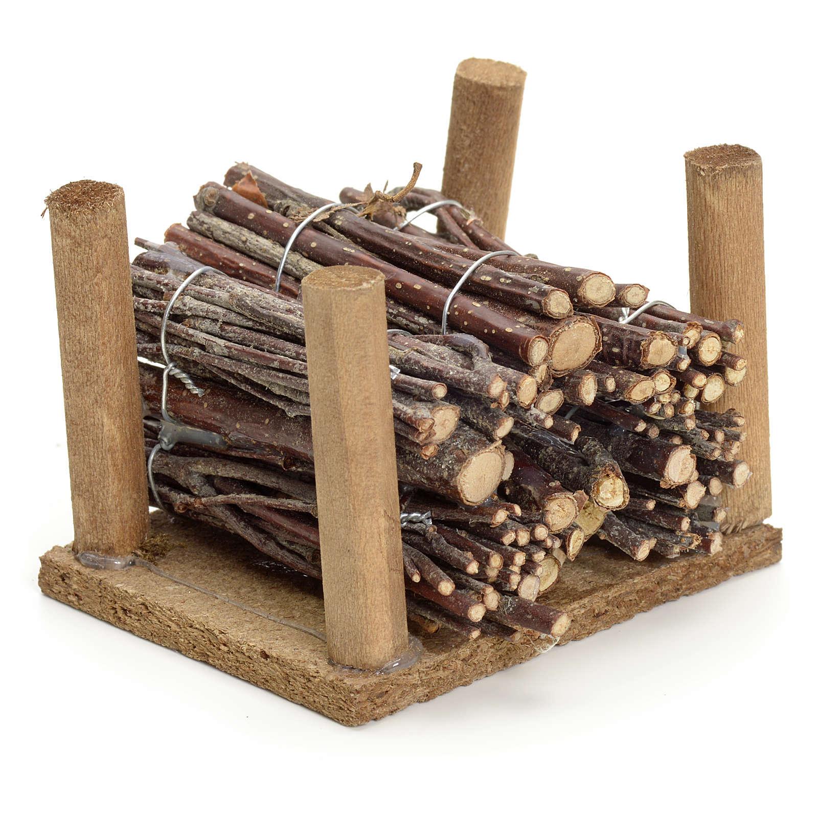 Pila de ramas de leña pesebre hecho por ti 4