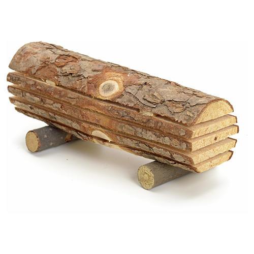 Nativity accessory, cut wood trunk 2