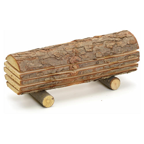 Nativity accessory, cut wood trunk 1