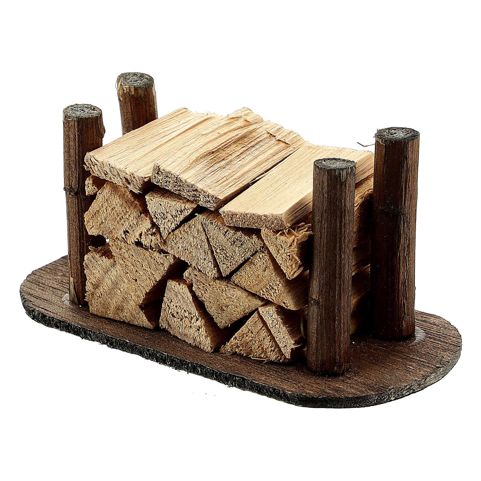 Pila de madera cortada pesebre hecho por ti 4