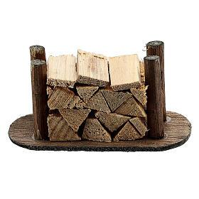 Pile de morceaux de bois pour crèche s1