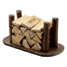 Pile de morceaux de bois pour crèche s2