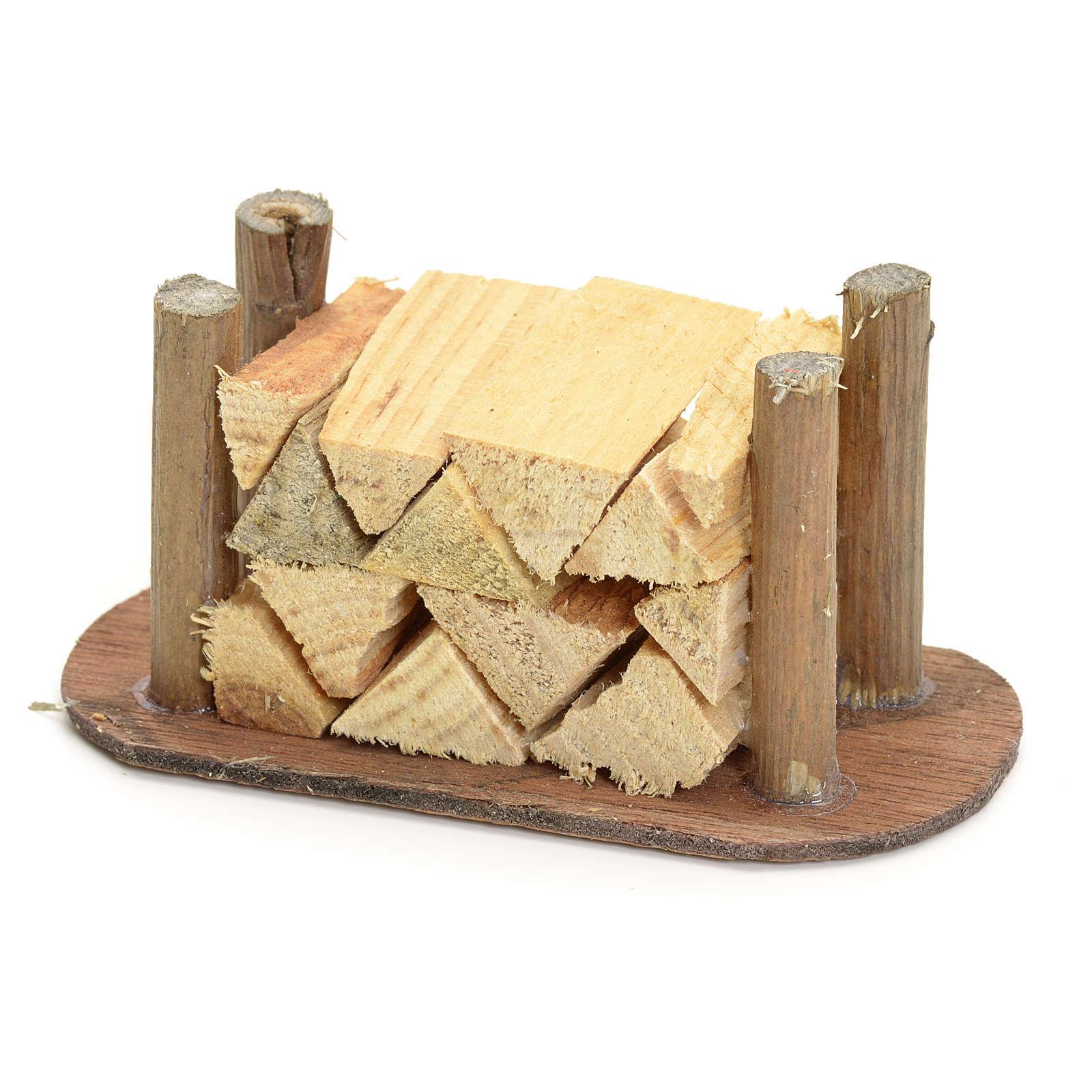 Catasta di legna tagliata presepe fai da te 4