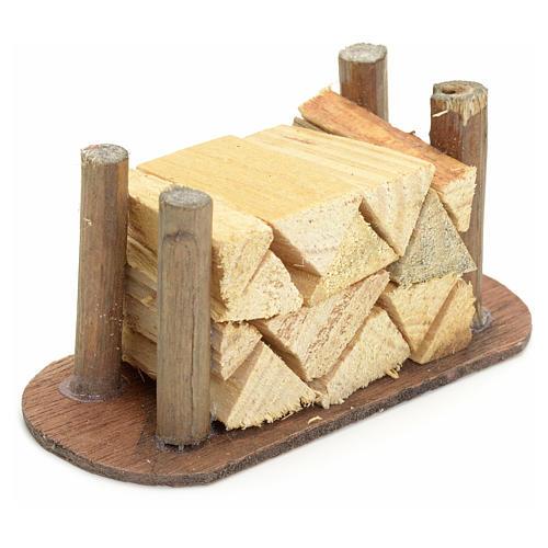 Catasta di legna tagliata presepe fai da te 2