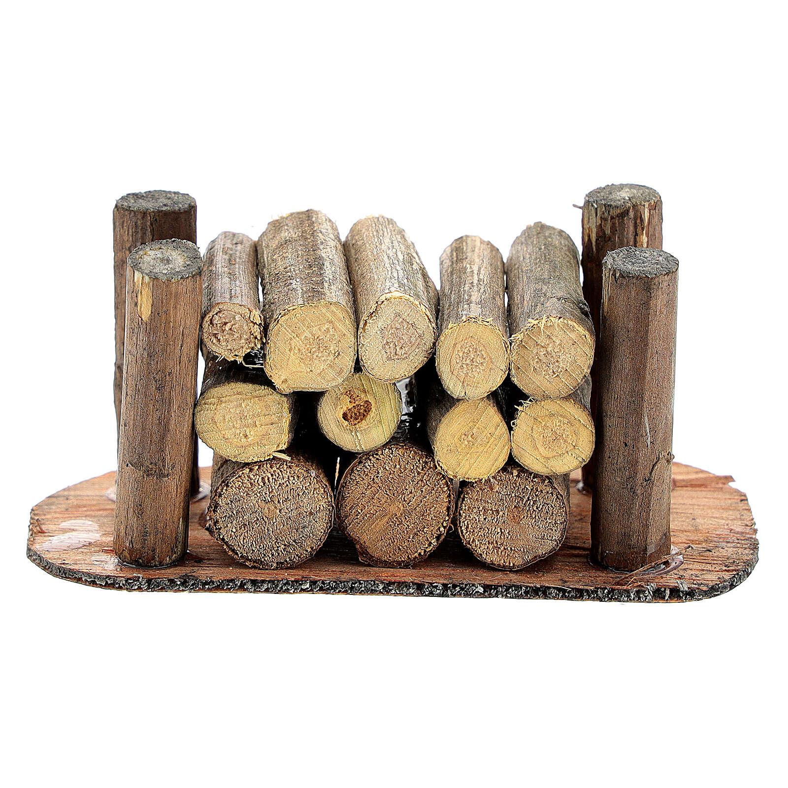 Holzstapel für die Selber-Bauen-Krippe 4