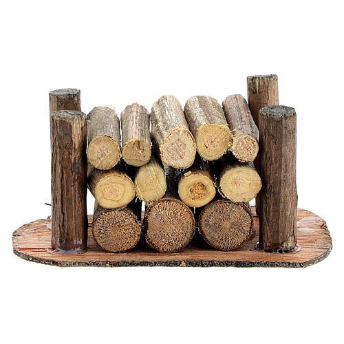 Holzstapel für die Selber-Bauen-Krippe 1