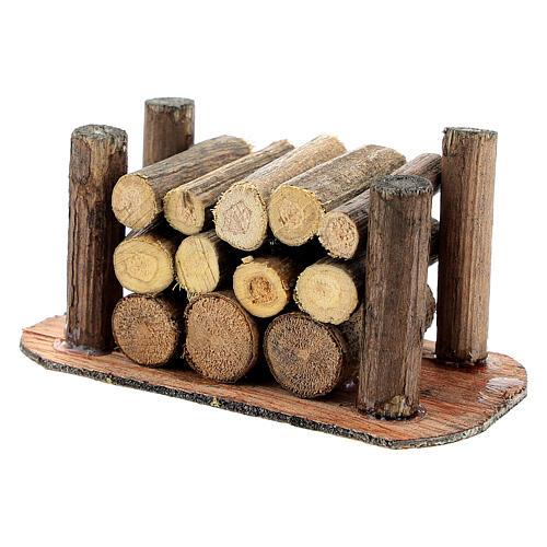 Holzstapel für die Selber-Bauen-Krippe 2