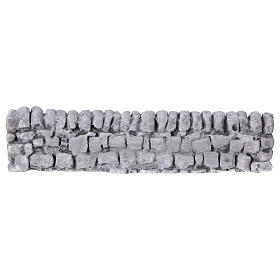 Bridges, streams and fences for Nativity scene: Nativity setting, wall with bricks in plaster 5x19cm