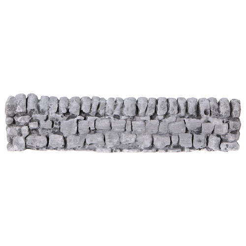 Nativity setting, wall with bricks in plaster 5x19cm 1