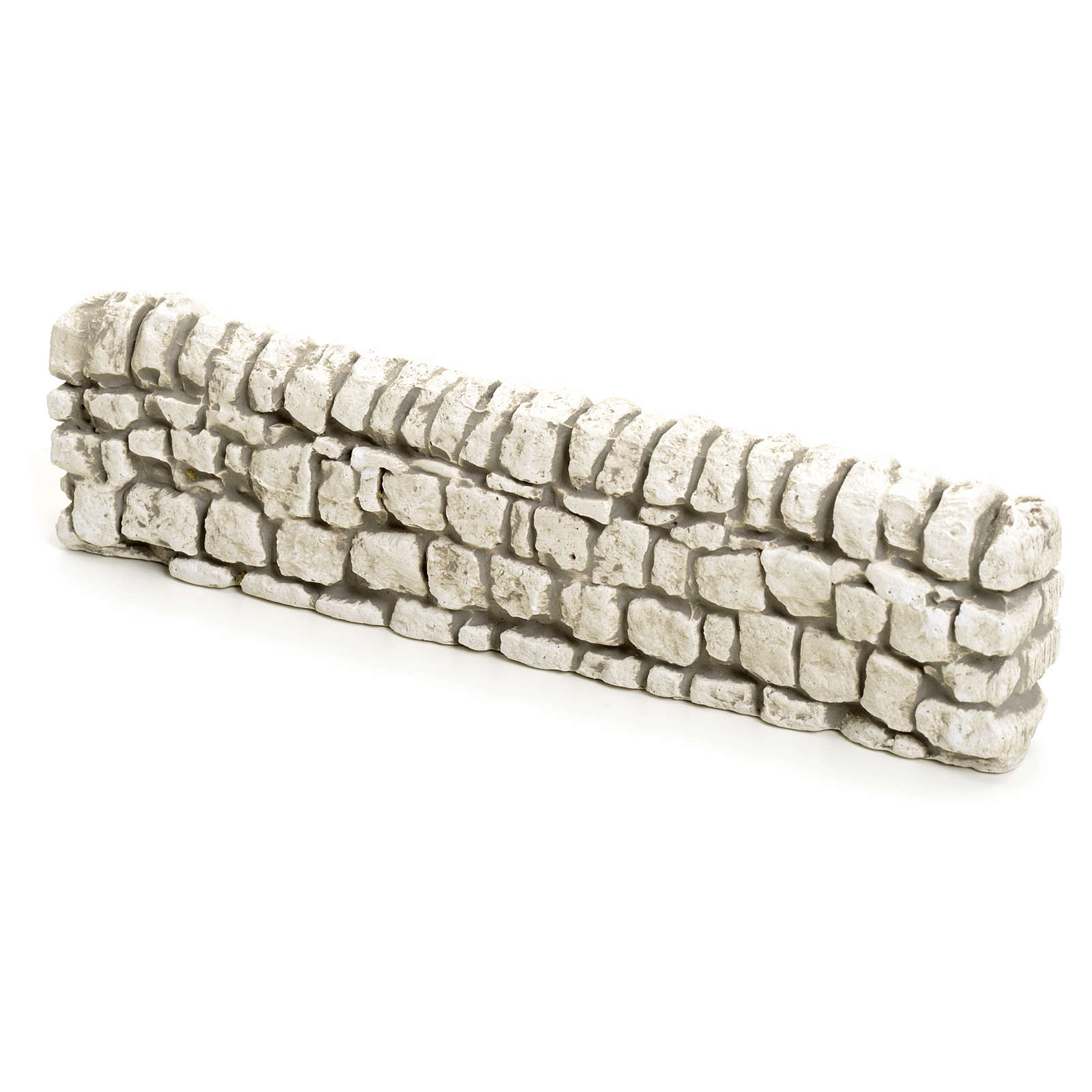 Muretto di mattoncini in gesso per presepe 5x19 4