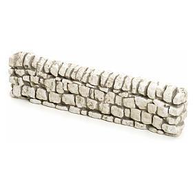 Muretto di mattoncini in gesso per presepe 5x19 s1