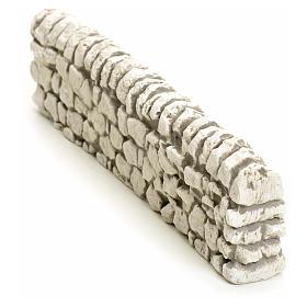 Muretto di mattoncini in gesso per presepe 5x19 s2