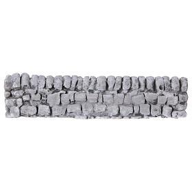 Ponte presepe, ruscelli, staccionate: Muretto di mattoncini in gesso per presepe 5x19
