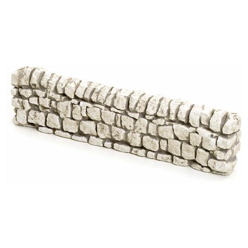 Muretto di mattoncini in gesso per presepe 5x19 1