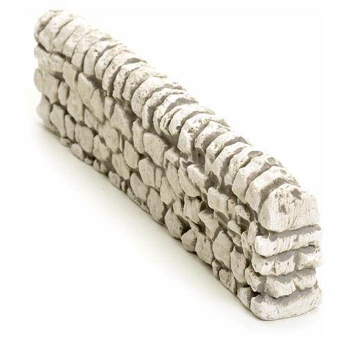 Muretto di mattoncini in gesso per presepe 5x19 2