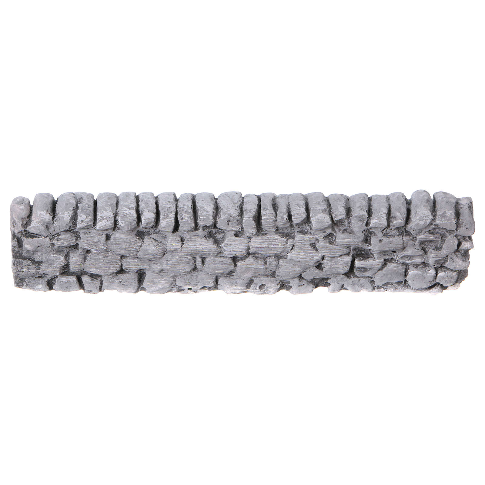 Nativity setting, wall with bricks in plaster 5x19cm 4