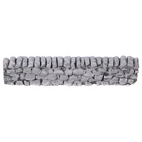 Nativity setting, wall with bricks in plaster 5x19cm s4