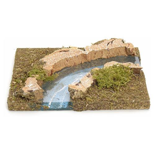Fluß zusammensetzbar aus Kork: rechte Biegung 1