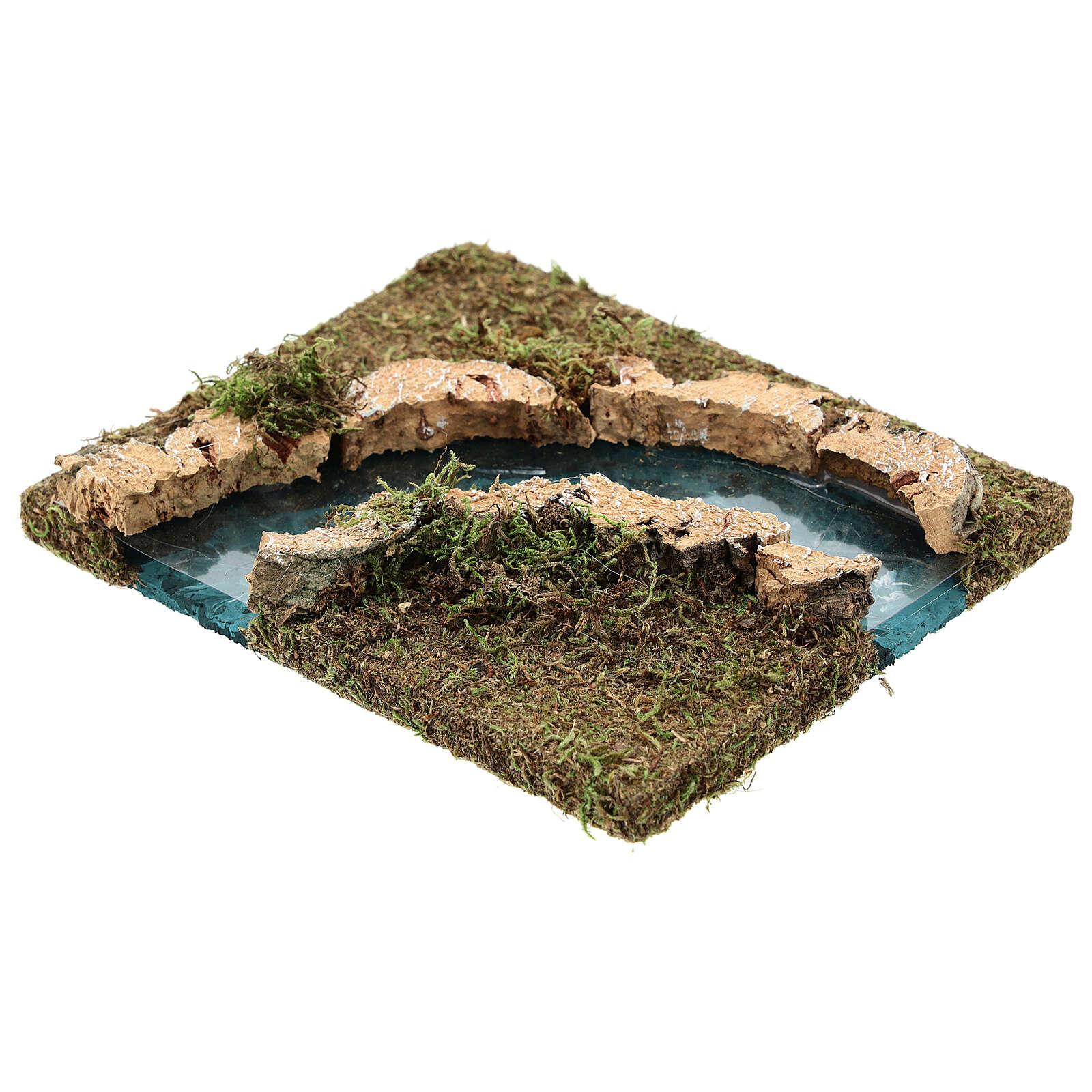Curva para el río pesebre 14x15 cm 4