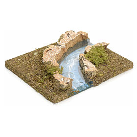 Nativity setting, modular river in cork, right turn s2