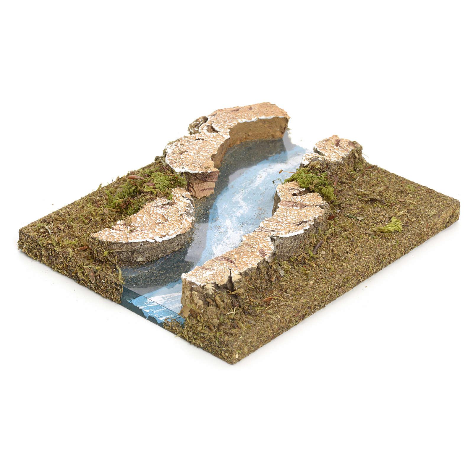Fluß zusammensetzbar aus Kork: krummliniger Teil 4