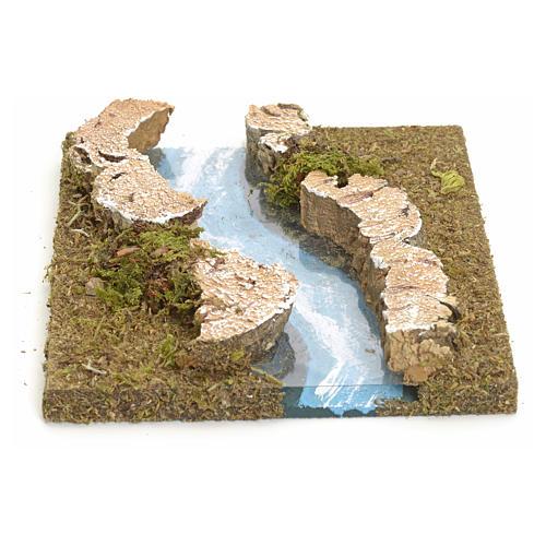 Fluß zusammensetzbar aus Kork: krummliniger Teil 1