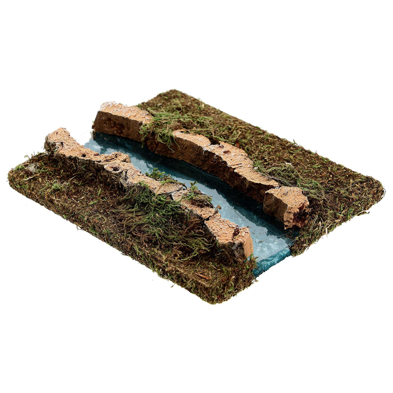 Tramo de río derecho belén madera y musgo 14x16 4