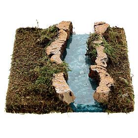 Tramo de río derecho belén madera y musgo 14x16 s4