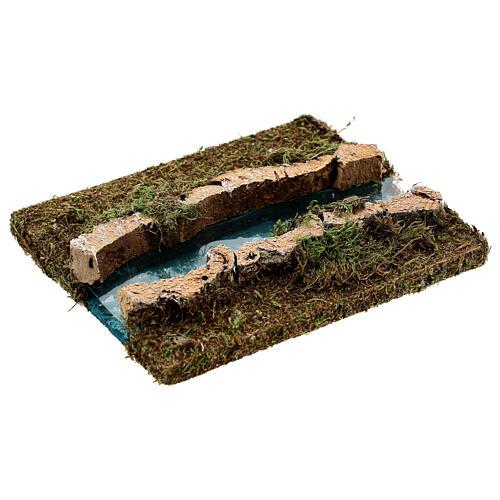Tramo de río derecho belén madera y musgo 14x16 3