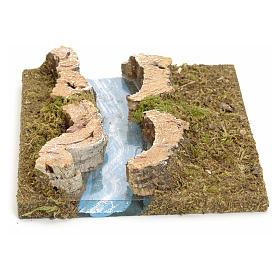 Bras de rivière droit pour crèche 14x16 cm s1