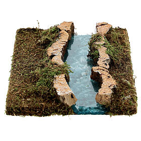 Nativity setting, modular river in cork, straight part s4