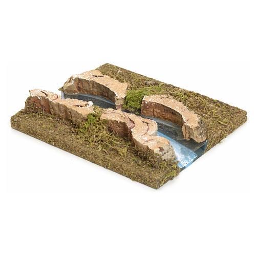 Nativity setting, modular river in cork, straight part 2