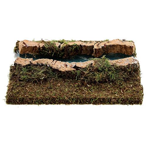 Nativity setting, modular river in cork, straight part 5