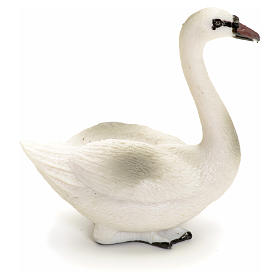 Nativity swan figurine in resin, 12 cm s1