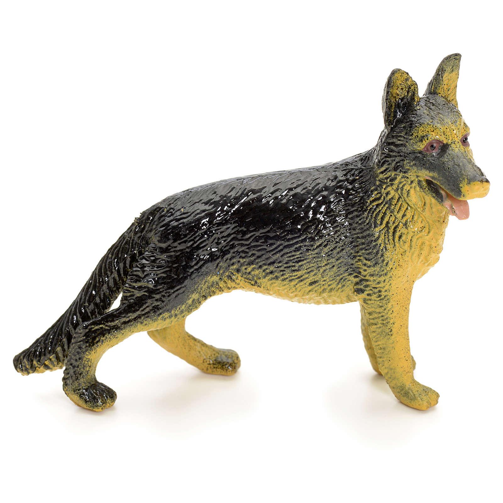 Cane lupo 12 cm presepe 3