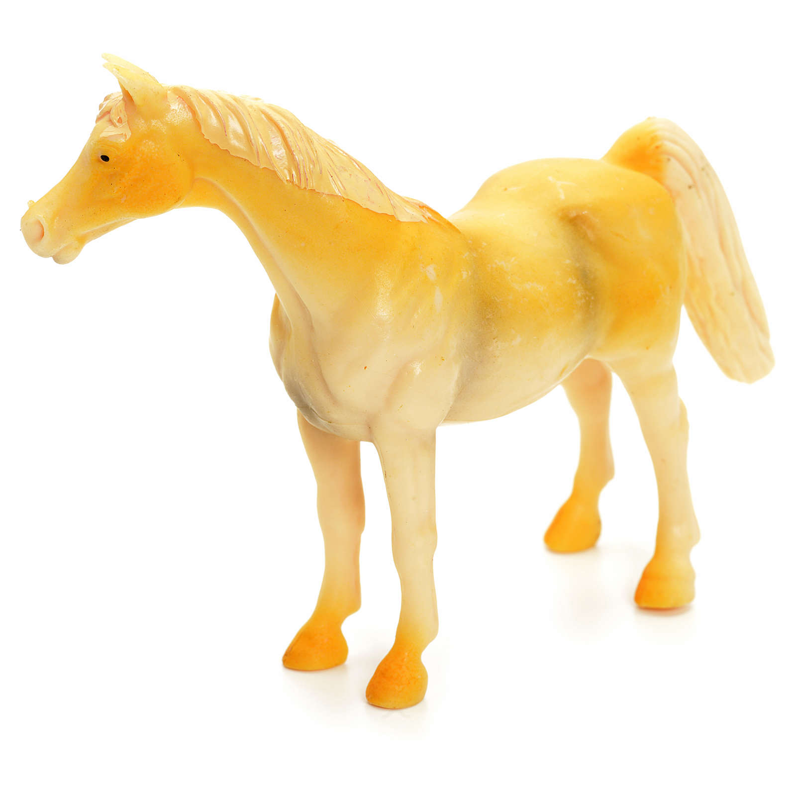 Cavallo beige 10 cm presepe 3
