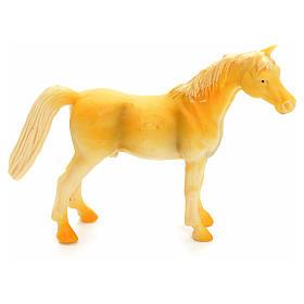 Cavallo beige 10 cm presepe s1
