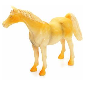 Cavallo beige 10 cm presepe s2